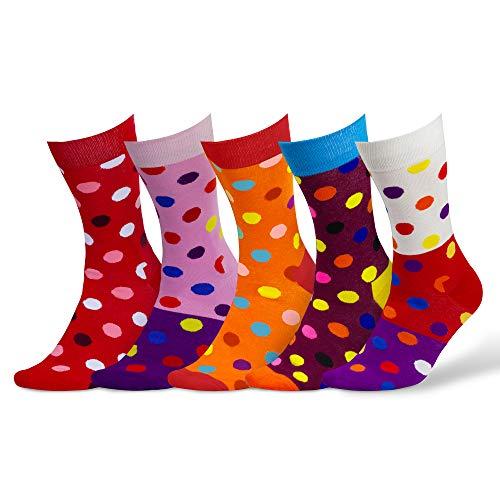 Damen & Herren bunte Socken (5 Paar) (3. Mix)