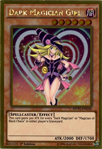 YU-GI-OH! - Dark Magician Girl (MVP1-ENG56) - The Dark Side of Dimensions Movie Pack Gold Edition - 1st Edition - Gold Rare