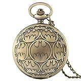 j-love 2021 nuovo bronzo orologio da tasca al quarzo collana pendente batman casual fob orologi orologio da uomo regali di compleanno per bambini ragazzi