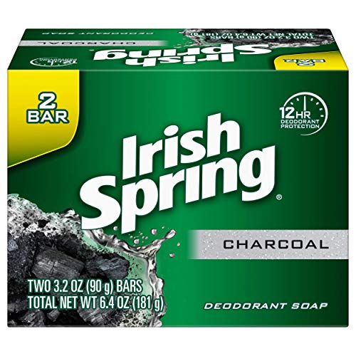 Irish Spring Men's Charcoal Bar Soap - 3.2 Ounce (2 Pack)