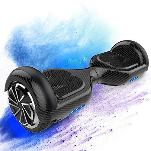 MARKBOARD Patinete Eléctrico Auto Equilibrio Hover Scooter Board 6.5 Pulgadas con Fuerte Dual Motor y LED E-Skateboard Bluetooth Regalo para Niños y Adultos