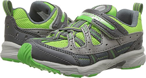 TSUKIHOSHI Boys' Speed Sneaker, Graphite/Green, 3 M US