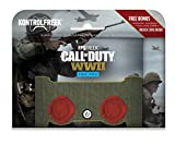 KontrolFreek FPS Freek Call of Duty: WWII for PlayStation 4 Controller (PS4) | Performance Thumbsticks | 2 High-Rise Concave | Red