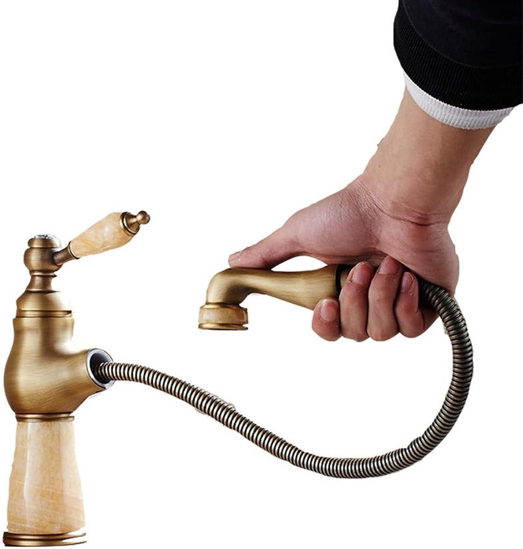 CTREKE Becken Wasserhahn Spüle Mischer Bad Wasserhahn ziehen Typ hei und kalt Einhand C