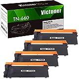Victoner Compatible Toner Cartridge Replacement for TN660 TN-660 TN630 for Brother HL-L2300D HL-L2380DW MFC-L2720DW HL-L2320D HL-L2340DW HL-L2360DW MFC-L2707DW MFC-L2700DW DCP-L2540DW (Black, 4-Pack)
