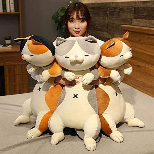DINEGG Plüschspielzeug Tierkatze Hund Nette Kreative langes weiche Spielzeug Büro Mittagspause NAP ING Kush Stuffed_60cm_Grey_red_Dog YMMSTORY