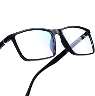 Blue Light Blocking Glasses,Computer Glasses,RayLove Anti Glare, Relieve Eyes Fatigue, Premium Gamer & Computer & Reading Eye-wear, Anti Blue Light Lenses for Men & Women Black Black