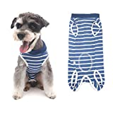 Etdane Dog Surgical Recovery Suit Pet Onesies Cat Bodysuit Post-Operative Shirt Alternative Cone E-Collar Abdominal Wounds Protector for Female Male Dog