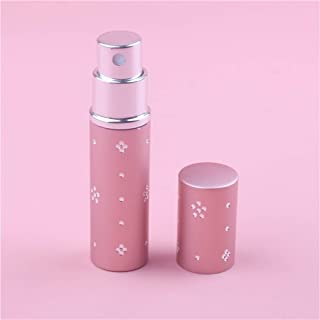 1Pieces 10ml Mini Refillable Portable Perfume Bottle Atomizer Spray &Traveler Aluminum Empty Parfum Bottle Cosmetic Containers (Color : 10ML Pink 2, Size : 10ml)