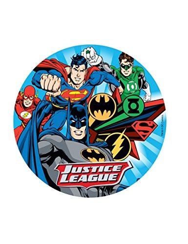 Generique - Disco oblea Liga de la Justicia Aleatorio 20 cm