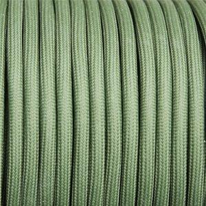 Textilstromkabel, elektrisches Fasergewebe, Materialfarbe: Militärgrün
