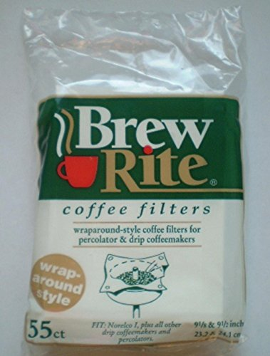Brew Rite Wrap Around Percolator Coffee Filters 55 Count
