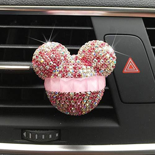 SSHELL Ambientador de coche para decoración de coche, clip de perfume para coche, difusor de aroma de diamante, accesorios para el interior (nombre del color: rosa)