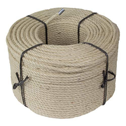 Kratzbaumland Jute-Seil 6 mm, Jute-Seil für Kratzbäume (versch. Längen) (50 Meter) Alternative zu Sisalseil