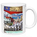 Chile South America Souvenir 11oz taza de café de cerámica de alta calidad