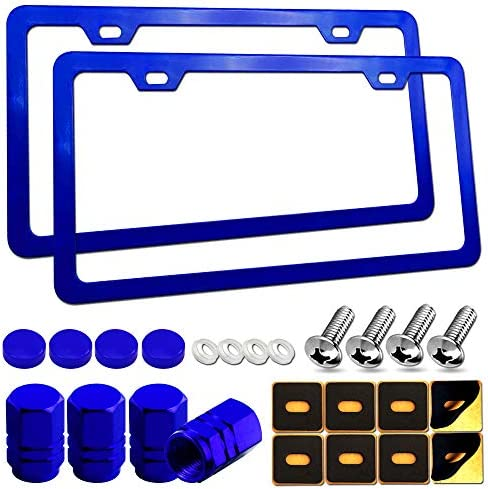 Aootf Blue License Plate Frames Cute Car Tag Holders for Women 2 Pack Slim Aluminum Bracket product image