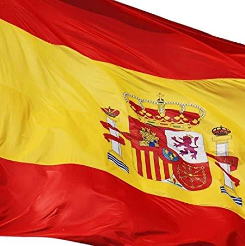 EUROXANTY® Bandera España   Pack de 2 Banderas   90x150cm   Bandera Resistente (2 Banderas ESPAÑA)