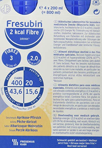 Fresubin Fresubin 2Kcal Apricot Fibre 200 ml 24U 4800 ml