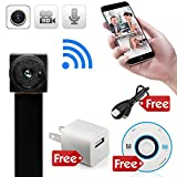 minicute Mini Hidden spy camera HD  P2P Wireless WiFi IP Digital Video Recorder for IOS Android Phone APP Motion Detecting  with Charger and Disc and Updated Instruction Included
