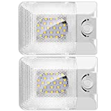 BlueFire 2 Pack Super Bright DC 12V Dimmable LED RV Ceiling Dome Light 450LM RV Interior Lighting Trailer Camper RV Lights Interior for Camper RV Trailer Boat
