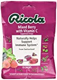 Ricola Mixed Berry with Vitamin C Supplement Drops, 19 Drops (Pack of 12), Naturally Helps Support the Body's Immune System