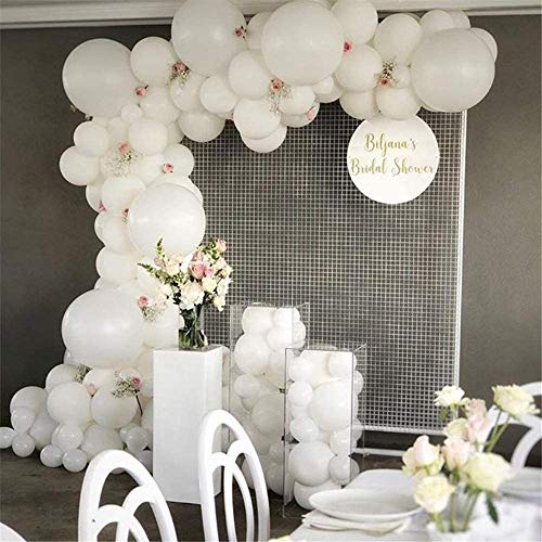 Sunshine smile Luftballons Weiß,Luftballons Helium,latexballon,Ballon Dekoration,Luftballons für Geburtstag Hochzeit Party,110 Stück Luftballons(Weiß)