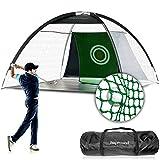 HAPROUND Golf Practice Net with Enhanced Net, 10'x6.6'x6' Golf Hitting Net Training Aids - Extend Golf Net Life