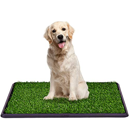 Giantex Dog Puppy Pet Potty Pad, Home Training Toilet Pad, Grass Surface Portable Dog Mat Turf Patch Bathroom Indoor Outdoor (30