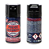 Megaprom 2X 40g Police Security CS-Gas Tränengas, Verteidigungssprays, Tierabwehrspray, Pfefferspray, KO-Spray