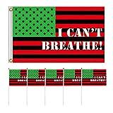 KESYOO 11Pcs Ich Kann Nicht Atmen Wehende Flagge Kit Prozession Flaggen Handheld Quadratische Amerikanische Flaggen Dekor Liefert