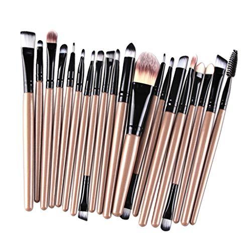 Toygogo 20pcs / Set Pinceaux de Maquillage Professionnels Pour Visage et Yeux - Noir d'or