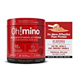 Oh!mino Muscle Synthesis Activator Newly Flavored (Caffeinated, 40 Servings 280grams) Amino Acids Supplement, Electrolytes Powder Supplement, Pre & Post Workout Recovery Drink – Oh!Nutrition