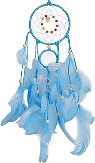 Hot Sale!DEESEE(TM)🌸🌸Handmade Dream Catcher Feathers Night Light Car Wall Hanging Room Home Decor (Blue)