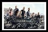 Fast & Furious 7 Cast Signiert und gerahmt Foto