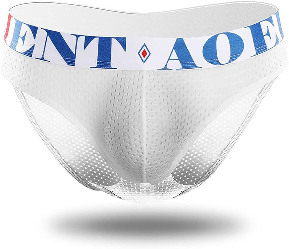 5-Piece Men's Underwear Four Seasons Breathable U Convex Ice Silk Mesh Quick-Drying Underwear