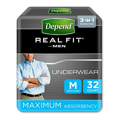 Depend Active-Fit Incontinence Pants for Men, Medium - 32 Pants