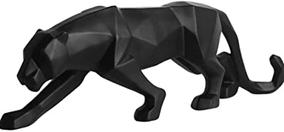 Asnomy Nordic Modern Polyresin Cheetah Figurine Home Decor Originality Home Decoration Furnishing Animal Ornament Resin Resin Statues Home Decor Ornament Figures Black Kitchen Dining