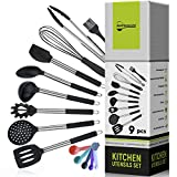 Silicone Cooking Utensils Kitchen Utensil Set for Nonstick Cookware Heat Resistant and Dishwasher...