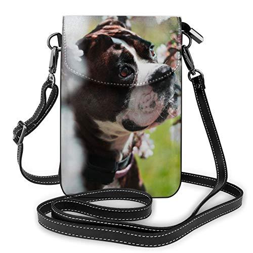 Petit sac à bandoulière léger en cuir synthétique pour téléphone portable, chien, animal domestique, sac à main pour femme - Noir - Noir , Taille unique