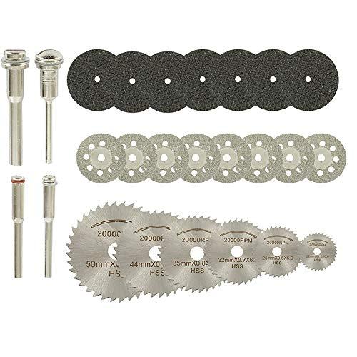 32 pezzi Dischi da Taglio Mini Dischi Diamantati HSS di Resina per Legno Vetro Plastica Pietra Metallo