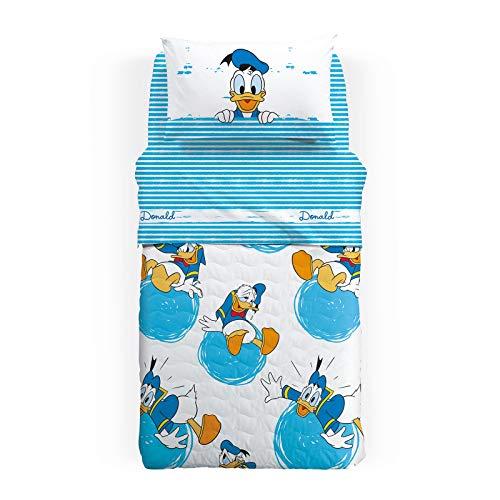 Disney gesteppte Tagesdecke für Einzelbett Donald aus Baumwolle Einzelbett Jungen