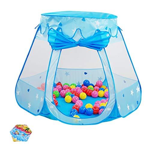 Parc bébé Tente d'intérieur de Jeu de bébé, Maison de Jeu de Maison de Princesse de Jeu avec Le Tapis Rampant et 200 balles pour Les Jouets de garçons (Color : Blue)