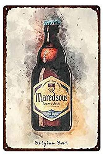 Metal Retro Variedad de carteles de chapa de cerveza Plato de cartel de bebida 30x40cm 4
