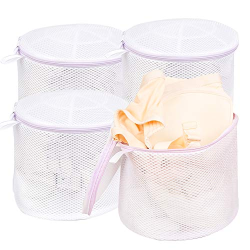 Wanapure Large Bra Wash Bag for Washing Machine Mesh Laundry Bag with Zipper for Lingerie Delicates Intimates Panties Lace Underwear Socks Tights Stocking 4 Large