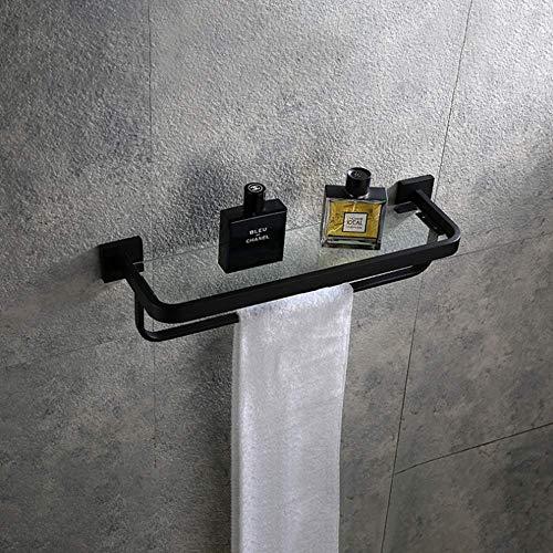 Estante de cristal para baño SUS 304 de acero inoxidable para baño, estante de ducha, estante de cristal, soporte de pared para ducha de vidrio y estante cromado