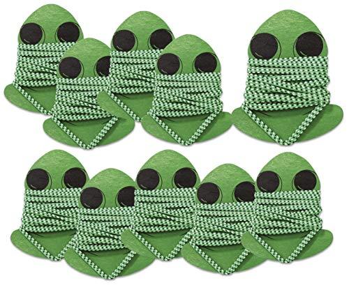 Betzold 758828 - Gummitwist Kinder Frosch, 10er Set - Hüpfgummi-Set Hüpfspiel