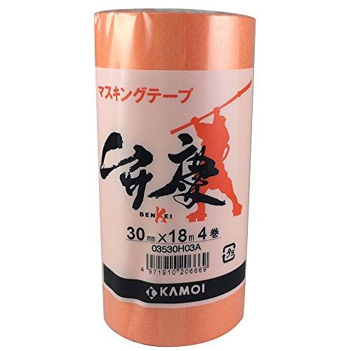 カモ井 マスキングテープ 弁慶 30mm×18m 4P [養生テープ]