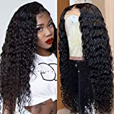 Ugrace Hair Deep Wave Lace Front Wigs With Baby Hair 150% Density Brazilain Virgin Deep Curly Human Hair Wigs Preplucked Natural Hairline Deep Wigs (14 inches, 13x4 deep wig natural color)
