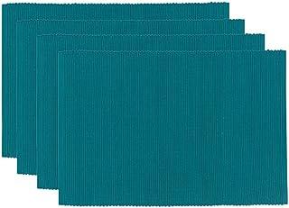 Now Designs Spectrum Basic Cotton Placemats, Set of Four, Peacock