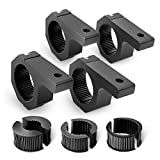 Nilight 4Pack LED Light Bar Mounting Bracket Kit Off Road Light Horizontal Bar Clamp Fit on 1'/1.5'/1.75'/2' Inch Bull Bars Tube Roll Cages Clamps for ATV UTV Trucks, 2 Years Warranty